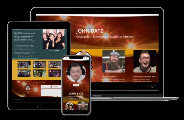 John Batz hjemmeside